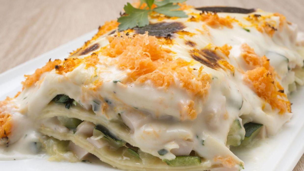 Receta de Lasaña de espinacas, pavo y calabacín - Karlos Arguiñano
