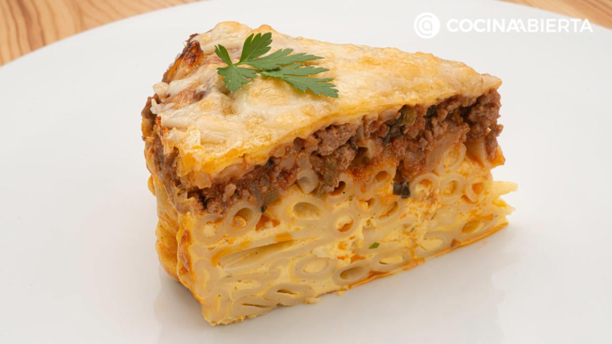 Pastel De Macarrones Con Carne Receta De Karlos Arguiñano En Cocina Abierta Hogarmania